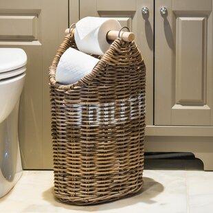 Orava Kubu Rattan Freestanding Toilet Paper Holder