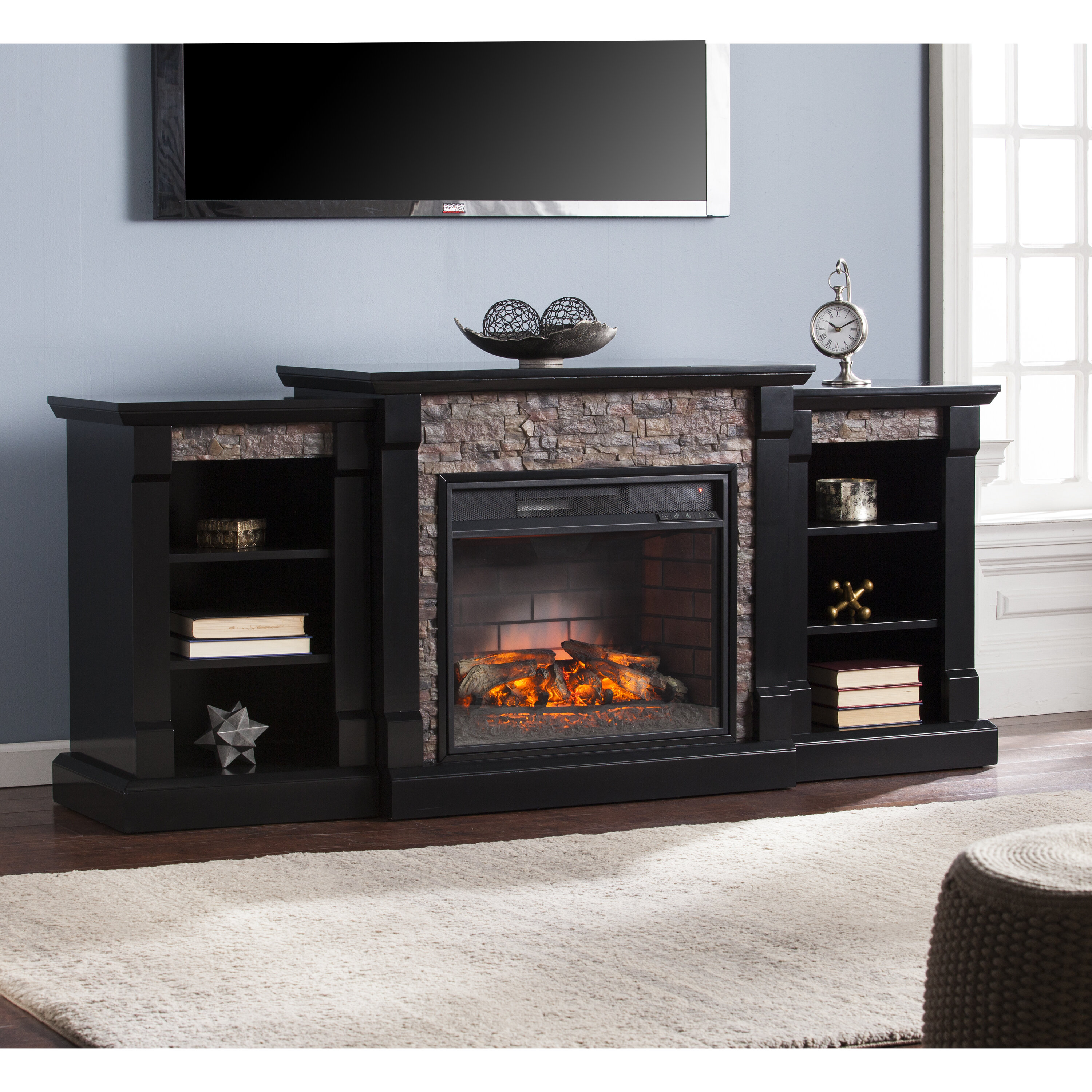 multiple walmart colors fireplace home for to tv up ameriwood digital electric ip tvs manchester stand com