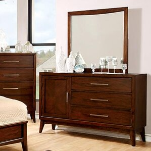 Dionn 3 Drawer Combo Dresser with Mirror by Hokku Designs