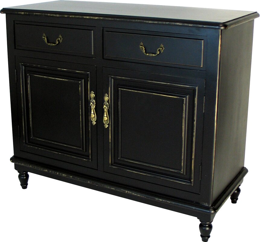 Distressed Antique Black Server - Wayborn Distressed Antique Black Server & Reviews Wayfair