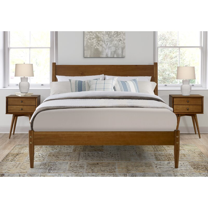 George Oliver Broadbent Mid Century Platform Bed Wayfair