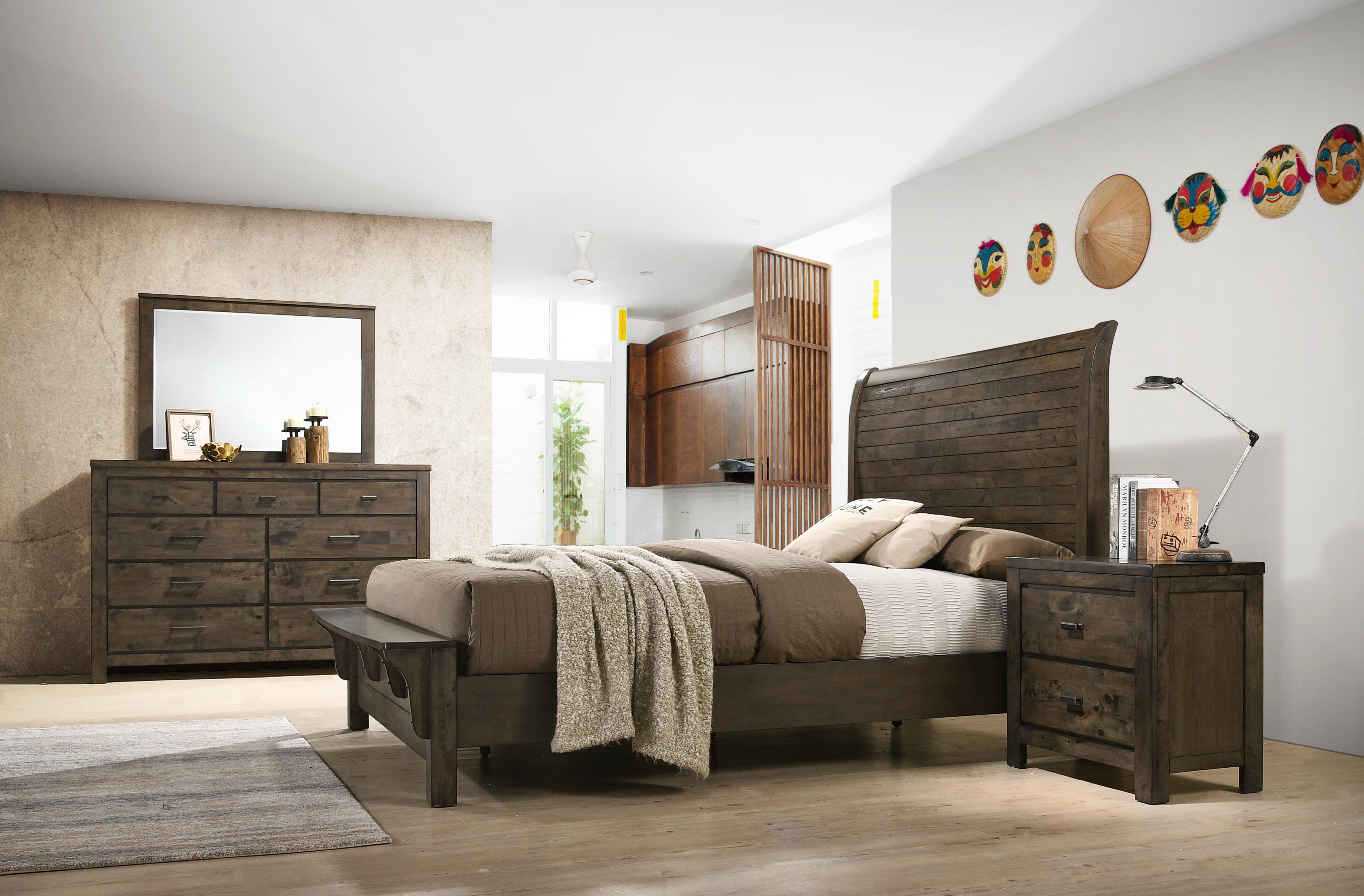 Union rustic shockley sleigh configurable bedroom set wayfair
