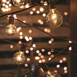 Outdoor string lights youll love wayfair 20 light 19 ft globe string lights aloadofball Gallery