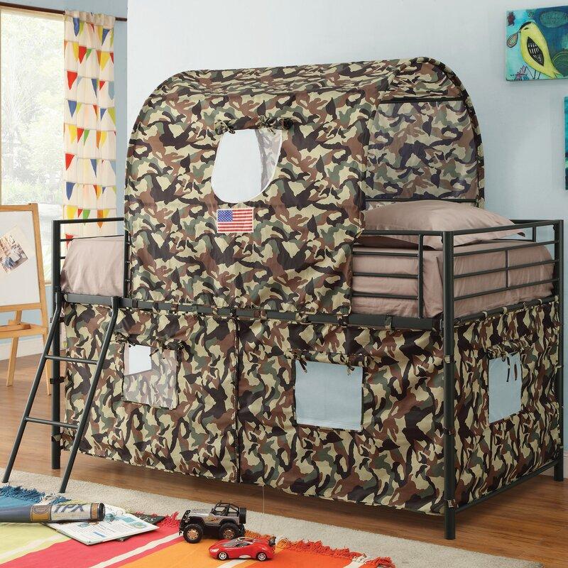 Kali Camouflage Tent Twin Loft Bed & Zoomie Kids Kali Camouflage Tent Twin Loft Bed u0026 Reviews | Wayfair