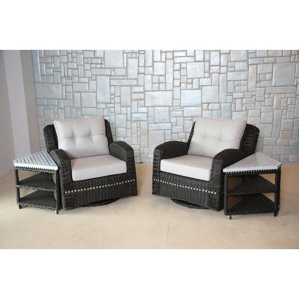 wicked wicker mishka wicker swivel club chair with cushion u0026 reviews wayfair