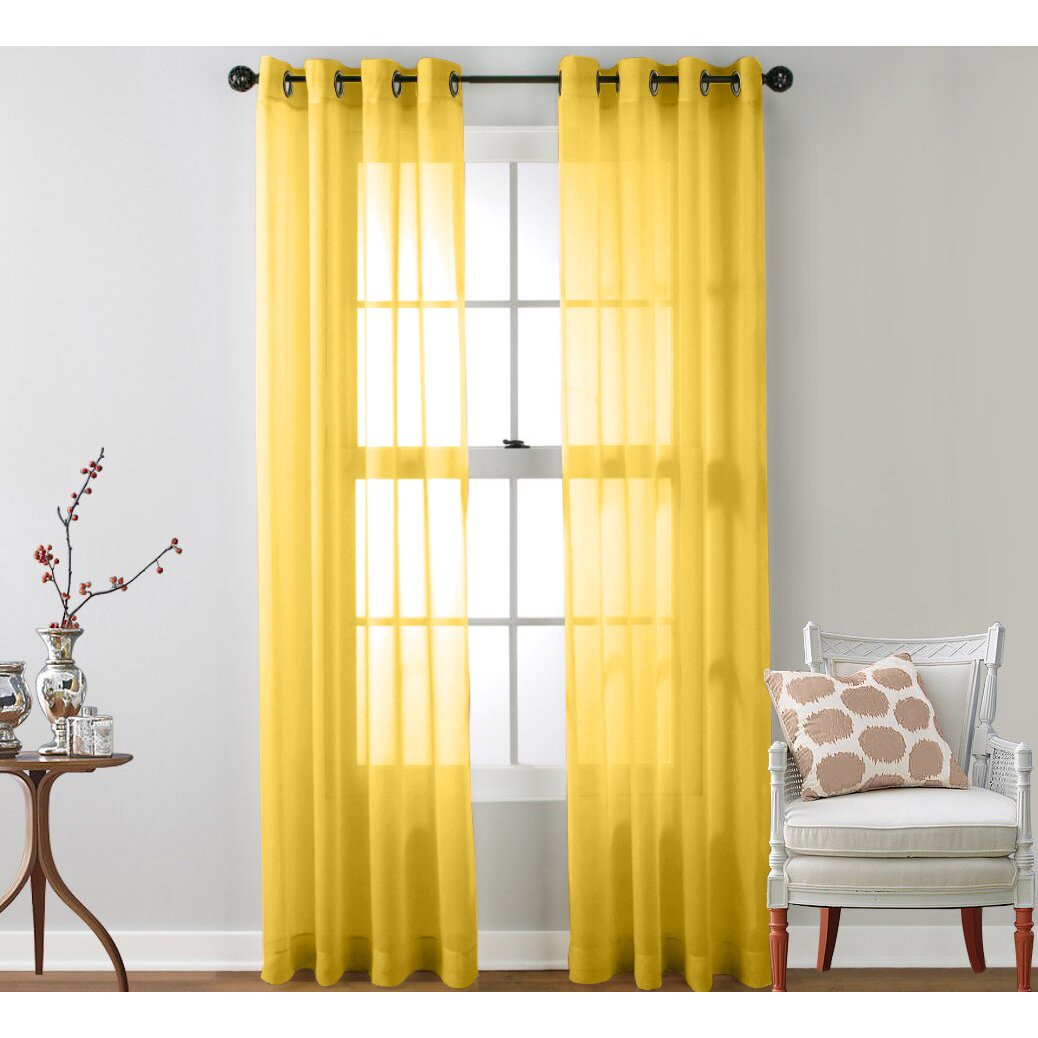 Mercury Row Caldera Sheer Solid Grommet Curtain Panel