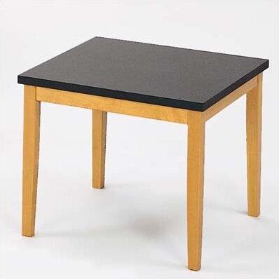 Lesro lenox corner table with black melamine top reviews for Table 6 lenox