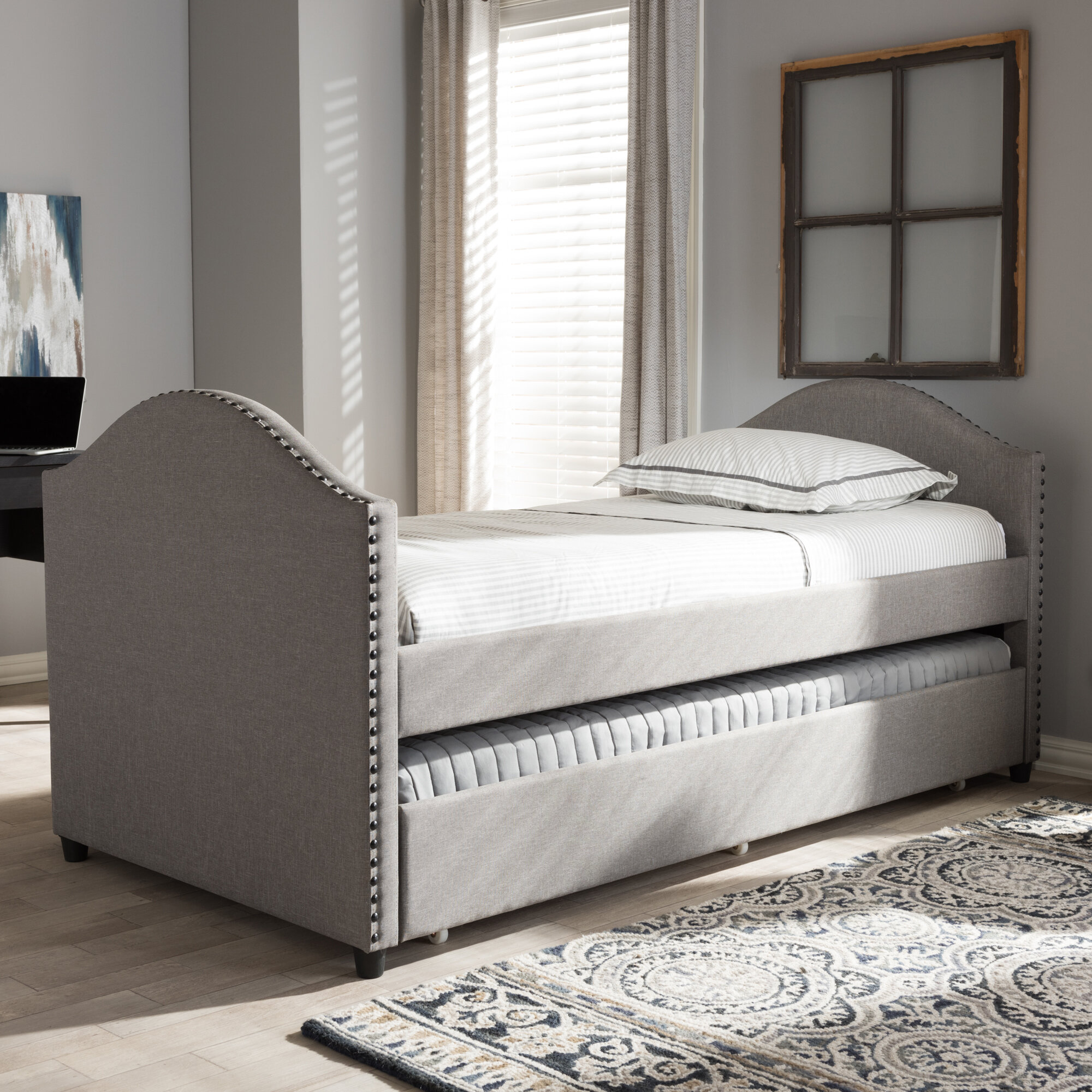 Willa Arlo Interiors Rubenstein Daybed with Trundle Bed & Reviews
