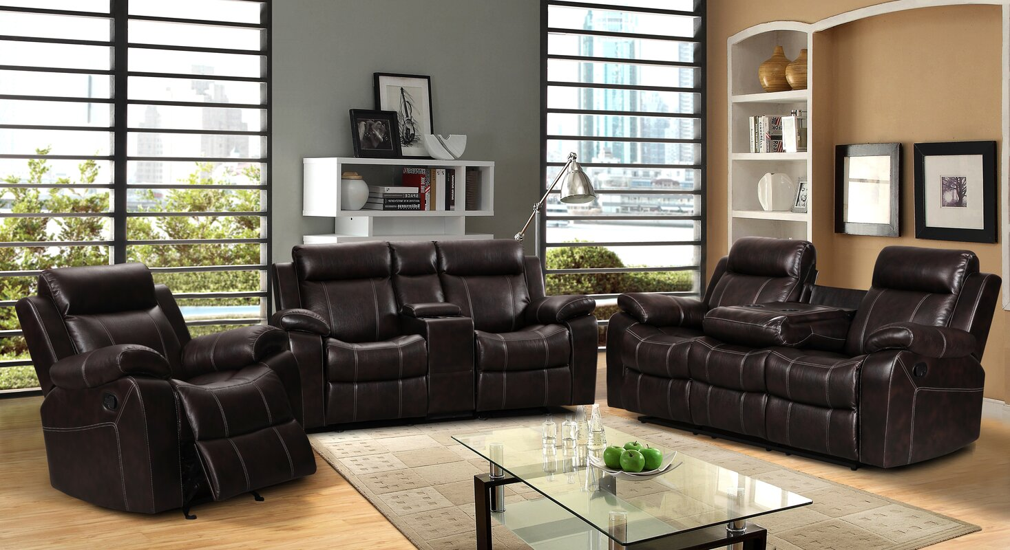 Living In Style Gabrielle 3 Piece Living Room Set Reviews Wayfair