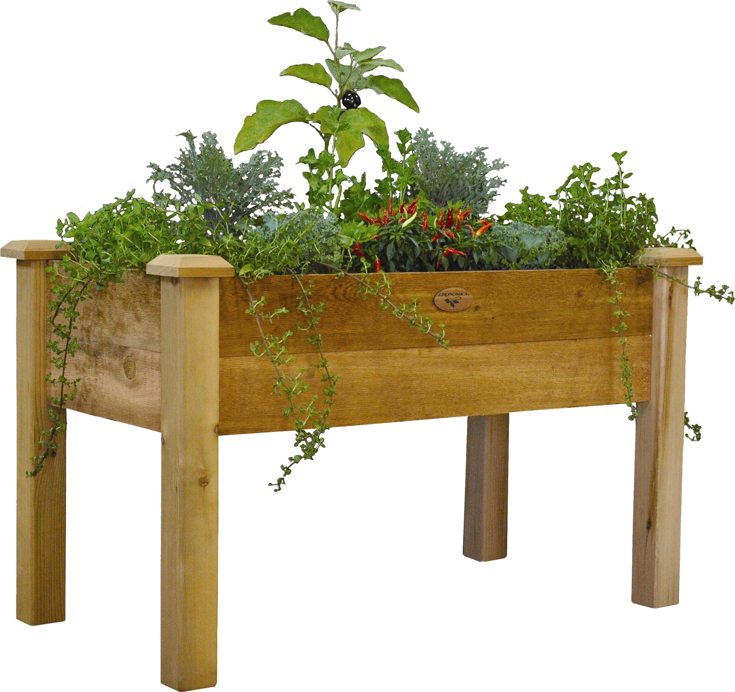 vegetable slope bed building tiered cedar gronomics trellis on garden with raised suncast kit