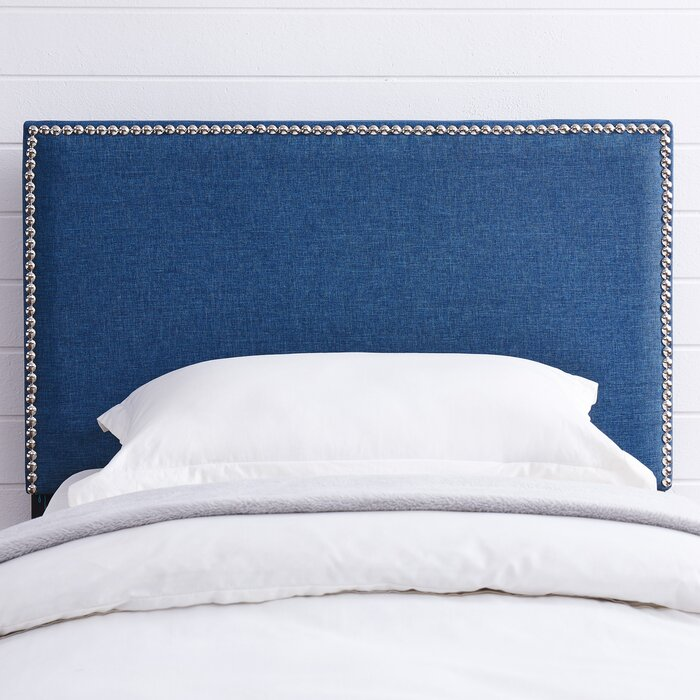 grey studded headboard queen home at size glamour velvet