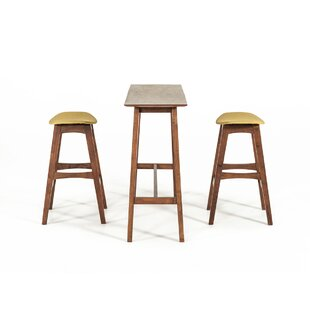 Cottman Modern 3 Piece Pub Table Set