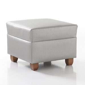 Crosby Square Ottoman in Grade 3 Vinyl by Studio Q Furniture