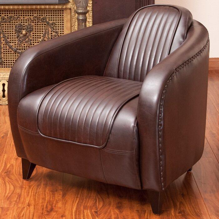 home loft concepts manado channeled leather barrel chair wayfair ca