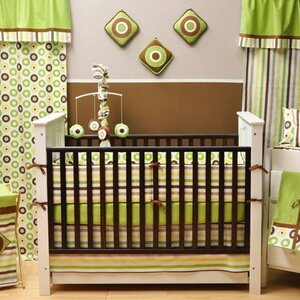 Mod Dots and Stripes 9 Piece Crib Bedding Set