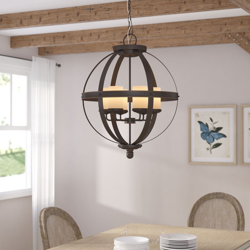 Tuscany Lighting. Tuscany 6 Light Shaded Chandelier Lighting N