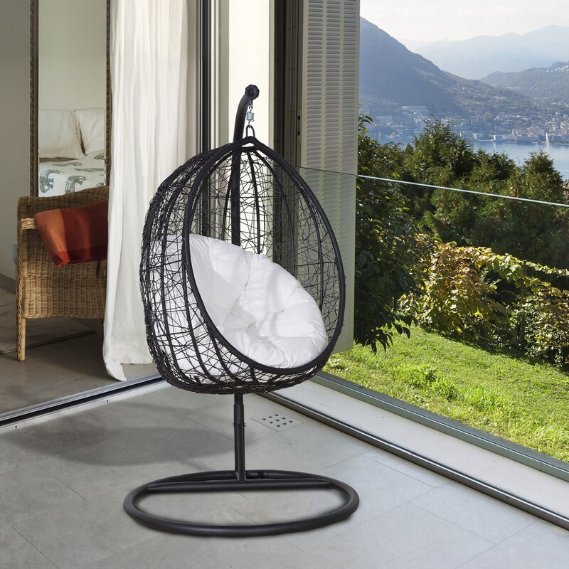 Outsunny Outdoor Hanging Chair With Stand Reviews Wayfair Co Uk