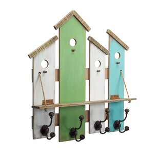 Heavner Birdhouse And Shelf Wall Mounted Coat Rack Set Of 2