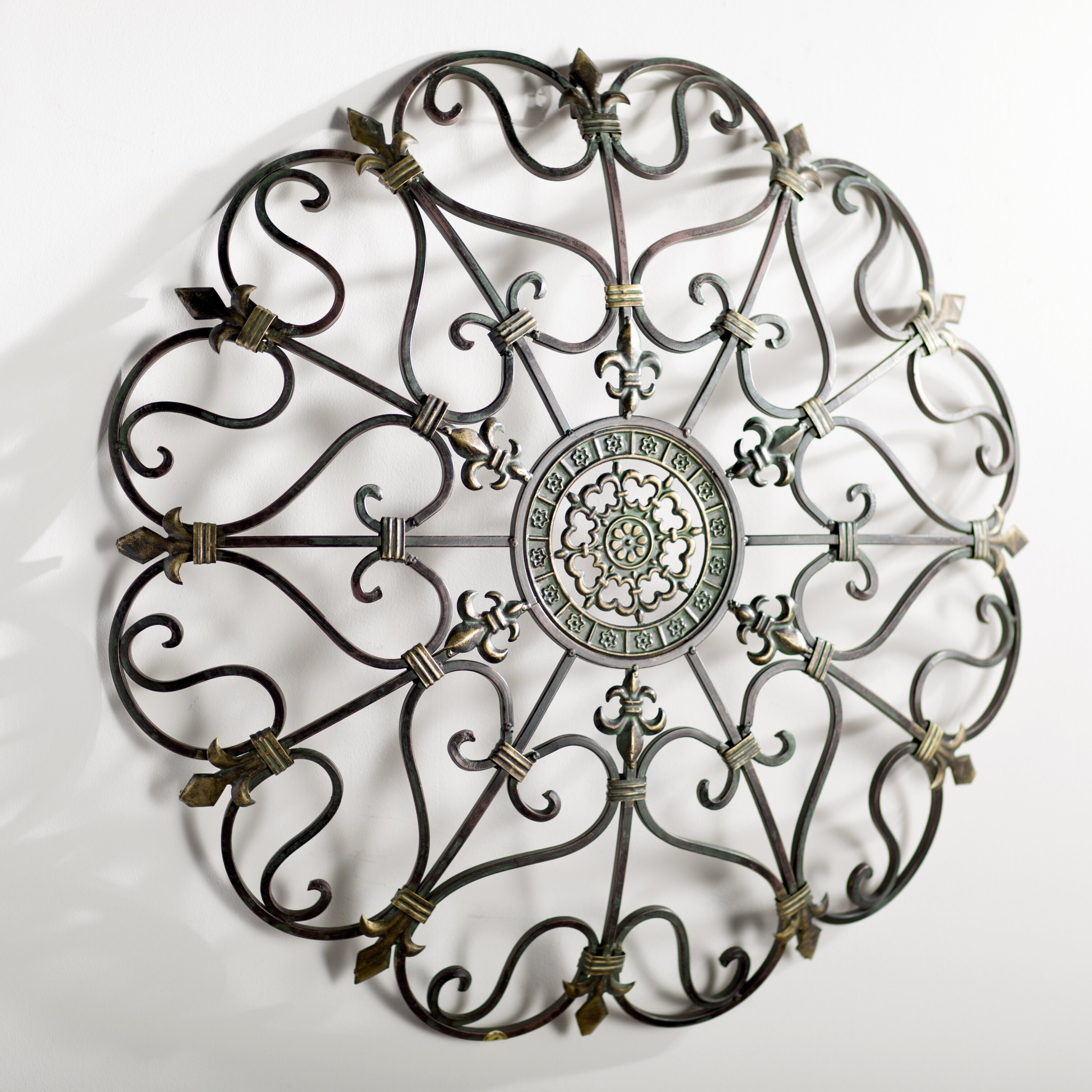 metal neutral hands pin abstract decor in circles tones three circle color wall