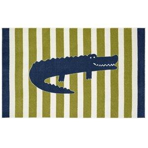 Brynn Friendly Alligator Area Rug