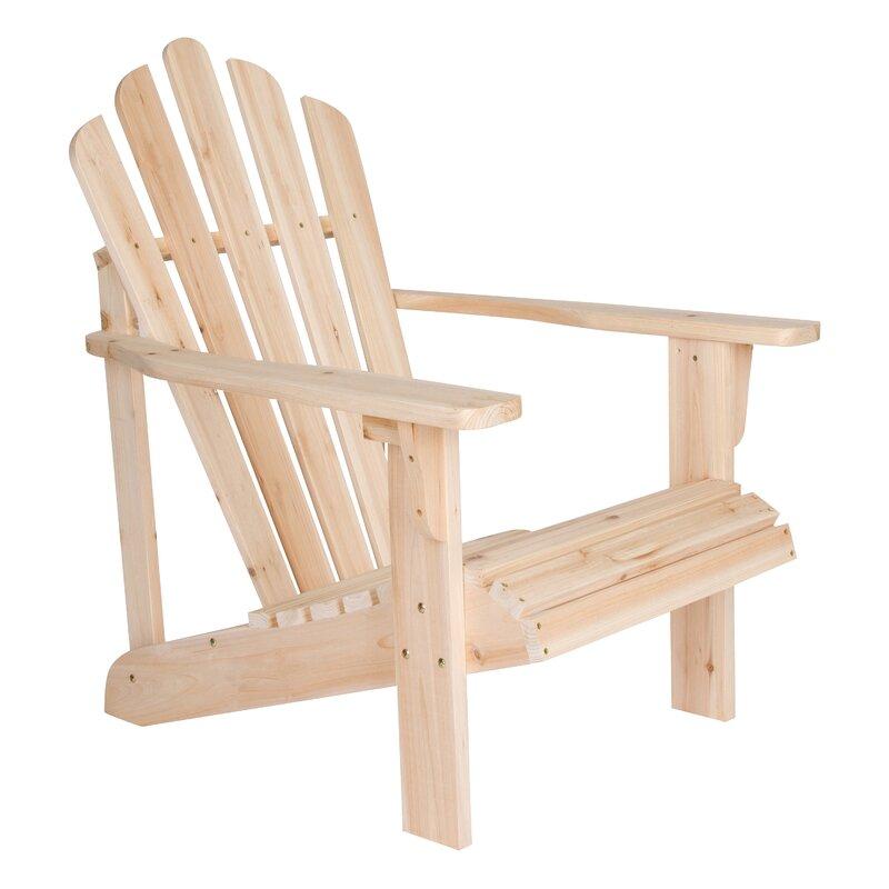 Burtville Solid Wood Adirondack Chair
