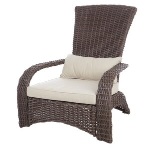 kent deluxe coconino wicker chair with cushion