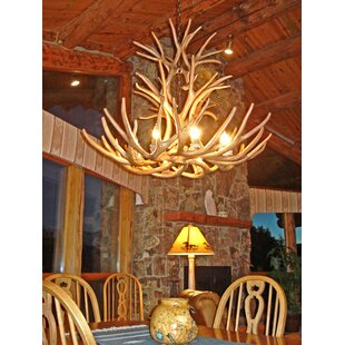Antler lighting wayfair attwood antler mule deer cascade 9 light candle style chandelier mozeypictures Image collections