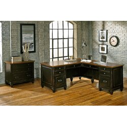 kathy ireland homemartin furniture hartford 3 piece l-shaped