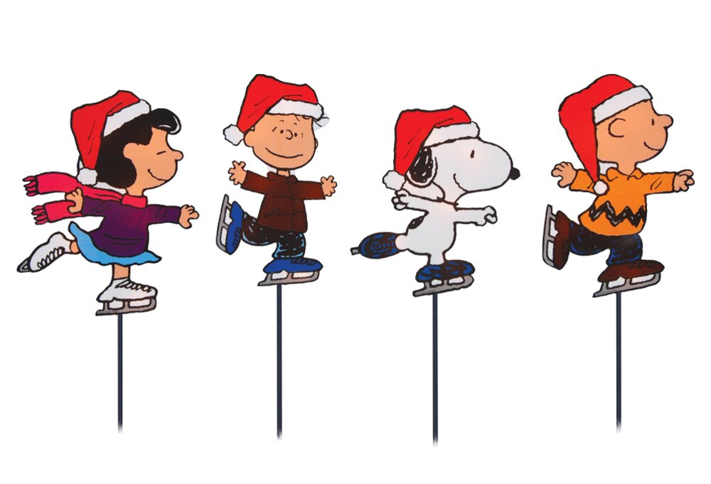 Product Works Snoopy And Peanuts Ice Skating Christmas
