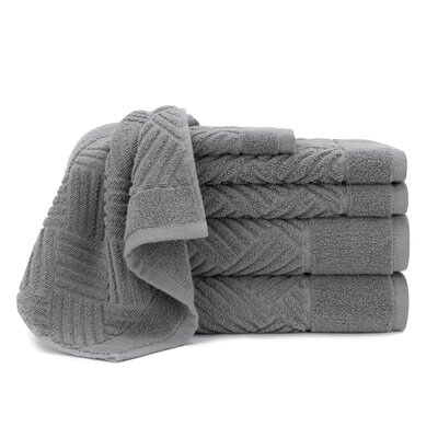 Bars 6 Piece 100% Cotton Towel Set Briarwood Home Color: Steel Gray