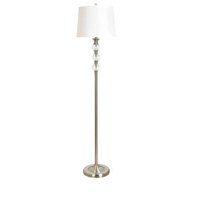 Shipton crystal and metal 61 5 floor lamp