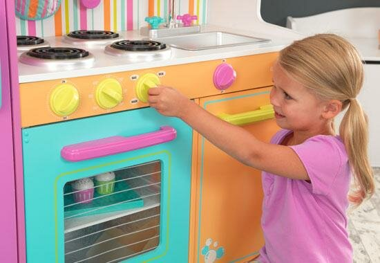Plastic Play Kitchen Step 2 kidkraft deluxe big & bright kitchen play set & reviews | wayfair
