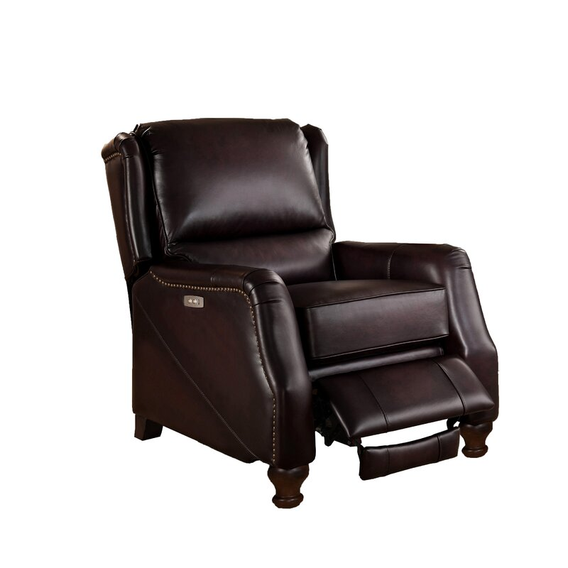 Delicieux Imperial Leather Power Recliner With USB Port