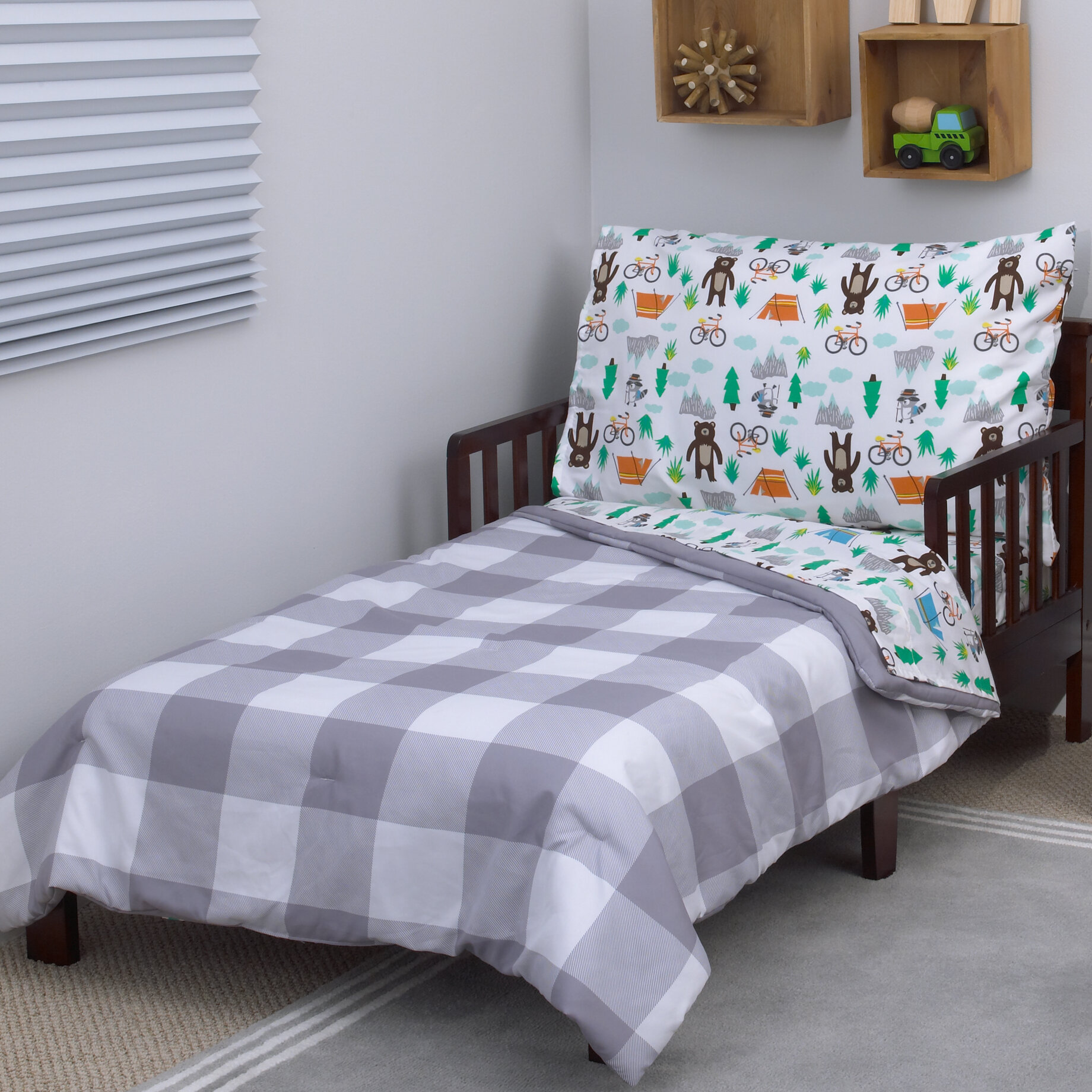 carters woodland boy 4 piece toddler bedding set wayfair - Toddler Bed Sets