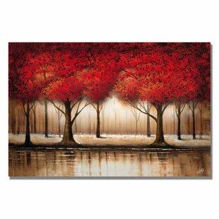 Bon U0027Parade Of Red Treesu0027 On Canvas