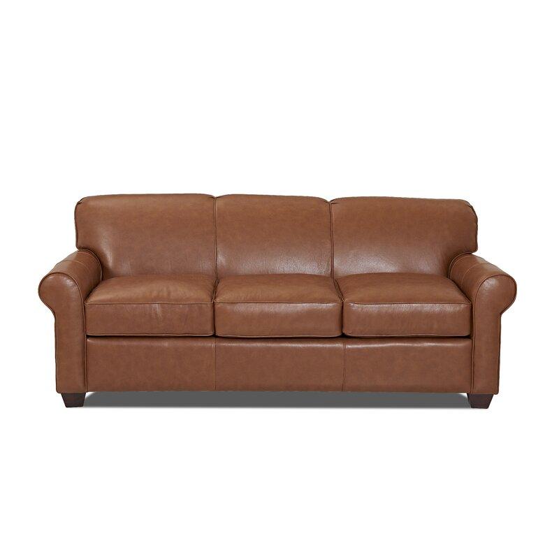 Wayfair Custom Upholstery™ Jennifer Leather Sofa Bed & Reviews | Wayfair