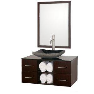 abba 36 single bathroom vanity set with mirror