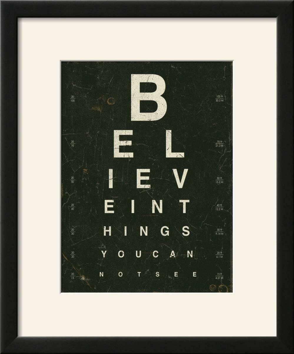 Williston Forge Eye Chart Iii Framed Textual Art Print Wayfair