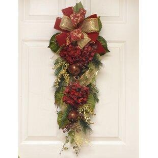 Burgundy Hydrangea Winter Door Swag  sc 1 st  Wayfair & Door Swag Spring | Wayfair