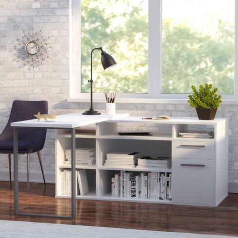 Mercury Row Alves L Shaped Melamine Top Computer Desk