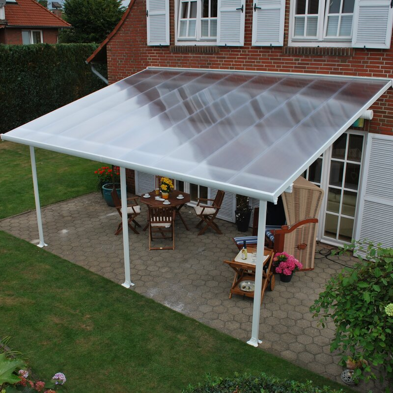 Palram Feria 28 Ft W X 13 Ft D Patio Awning Wayfair