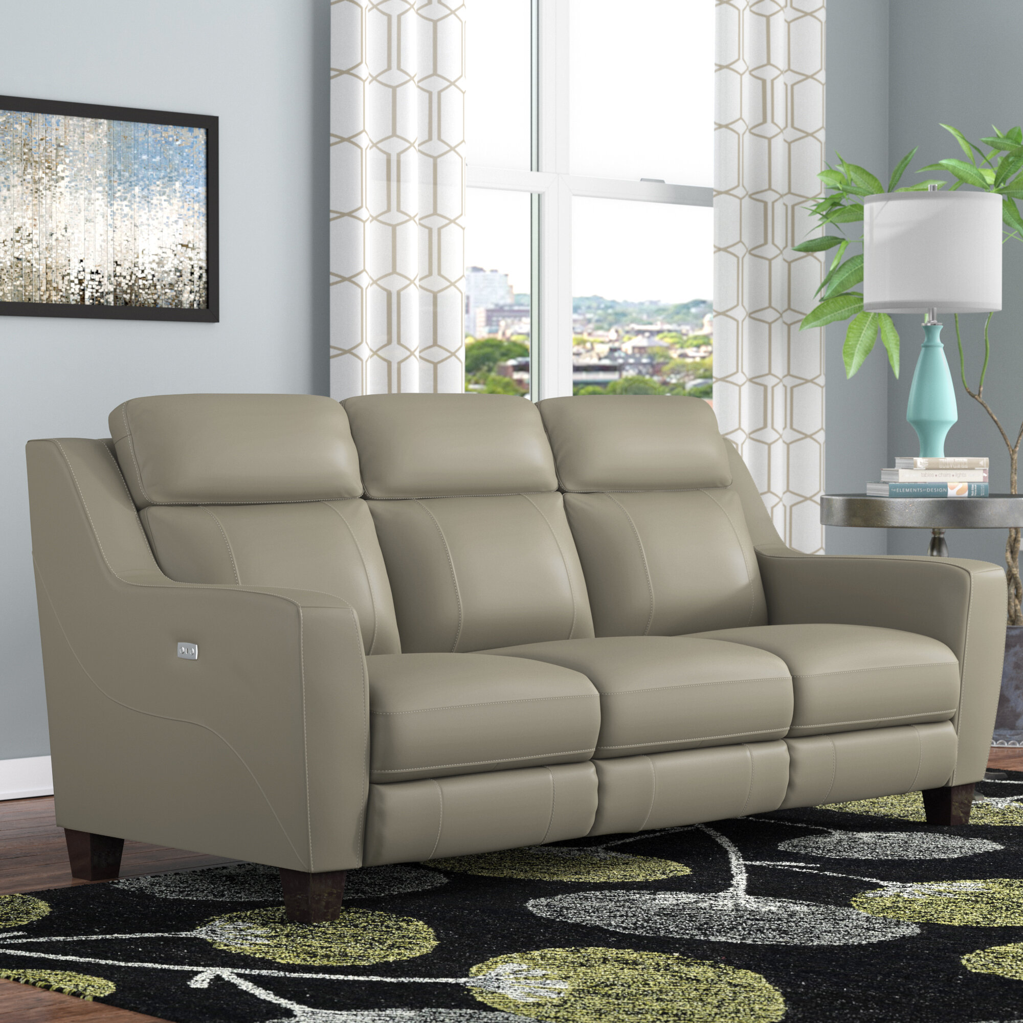 bl belfast lb e sofa premium grey collection seater slate bonded reclining leather dark power recliner
