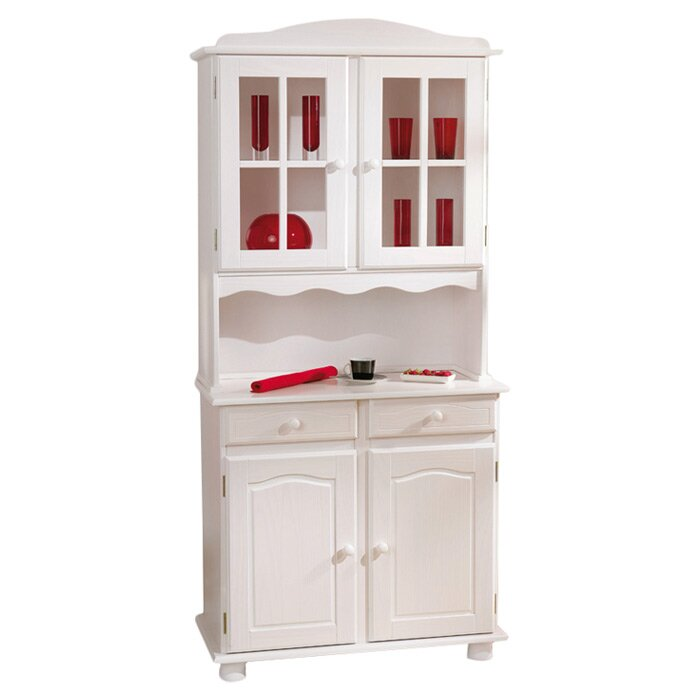 Pine Kitchen Cabinet Pantry Storage: House Additions Luca Solid Pine Display Cabinet Kitchen