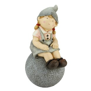 Young Gnome Sitting On Ball Garden Statue