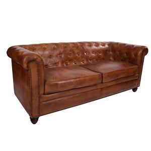 2-Sitzer Sofa Sabik aus Leder von All Home