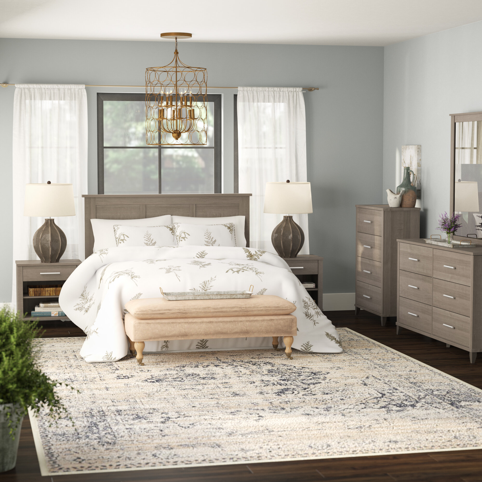Laurel Foundry Modern Farmhouse Valencia Queen 6 Piece Bedroom Set ...