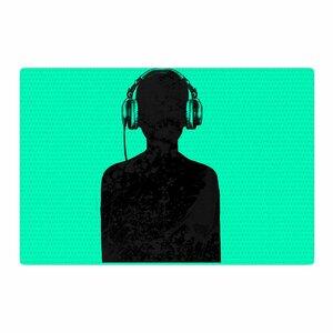 BarmalisiRTB Music Turquoise/Black Area Rug