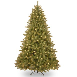 Lakewood 7 5 Green Spruce Artificial Christmas Tree With 700 Dual Colored And White Lights