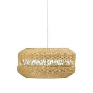 Open Weave 1-Light Drum Pendant