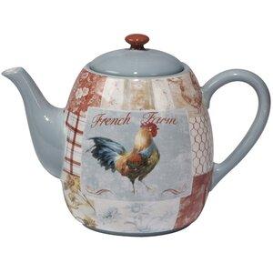 Ellecourt 40 Oz. Ceramic Teapot